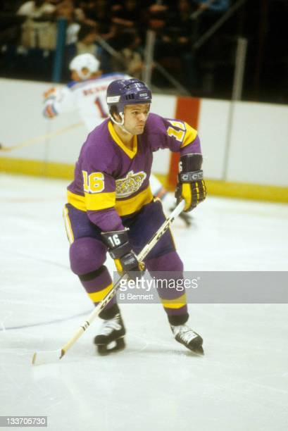 Marcel Dionne of the Los Angeles Kings skates on the ice during an NHL game against the New York Rangers on December 13, 1978 at the Madison Square...
