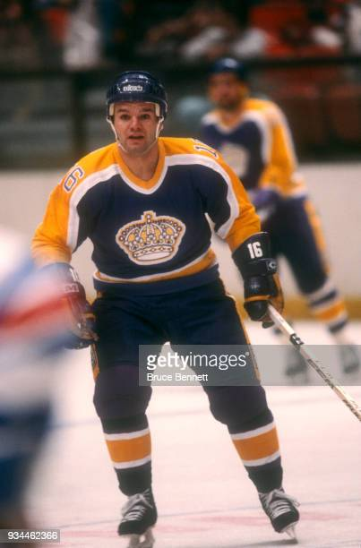 Marcel Dionne of the Los Angeles Kings skates on the ice during an NHL game against the New York Rangers on December 15 1982 at Madison Square Garden...