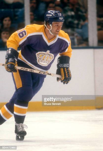 Marcel Dionne of the Los Angeles Kings skates on the ice during an NHL game against the New York Islanders on November 1 1980 at the Nassau Coliseum...