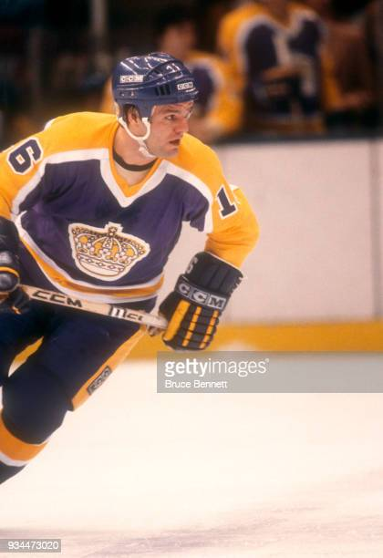 Marcel Dionne of the Los Angeles Kings skates on the ice during an NHL game against the New York Islanders on October 20 1981 at the Nassau Coliseum...