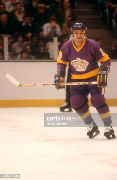 Marcel Dionne of the Los Angeles Kings skates on the ice during an NHL game against the New York Islanders on December 12 1978 at the Nassau Coliseum...