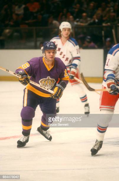 Marcel Dionne of the Los Angeles Kings skates on the ice during an NHL game against the New York Rangers on December 13 1978 at Madison Square Garden...