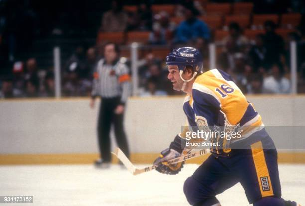 Marcel Dionne of the Los Angeles Kings skates on the ice during an NHL game against the New Jersey Devils on February 14 1984 at the Brendan Byrne...