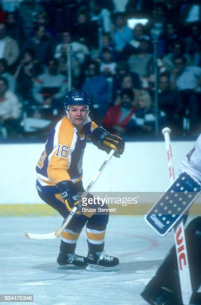Marcel Dionne of the Los Angeles Kings skates on the ice during an NHL game against the New York Islanders on October 29 1985 at the Nassau Coliseum...