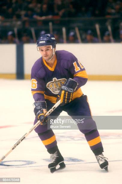 Marcel Dionne of the Los Angeles Kings skates on the ice during an NHL game against the New York Rangers on November 7 1979 at Madison Square Garden...