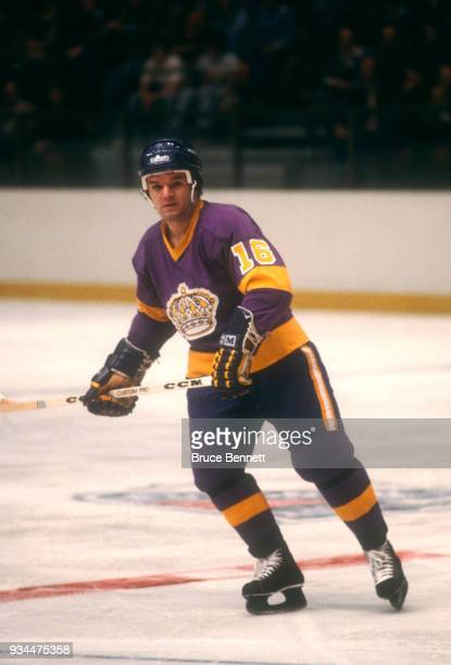 Marcel Dionne of the Los Angeles Kings skates on the ice during an NHL game against the New York Rangers on April 2 1979 at Madison Square Garden in...
