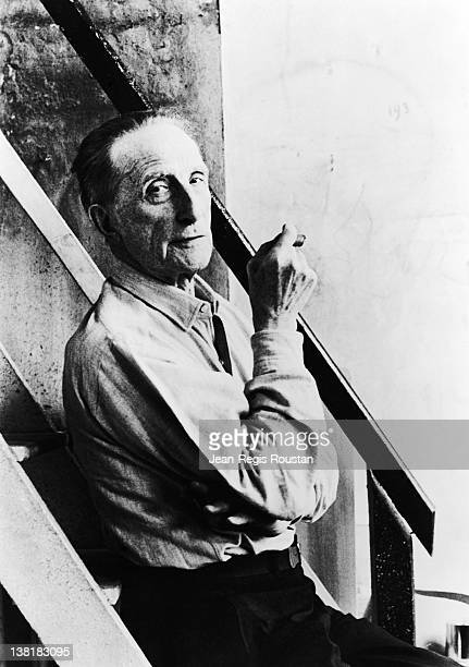 Marcel Duchamp , French artist, 1964.