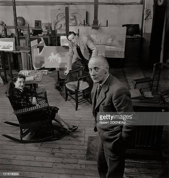 Marcel Duchamp, Jacques Villon And Suzanne Duchamp, 1950