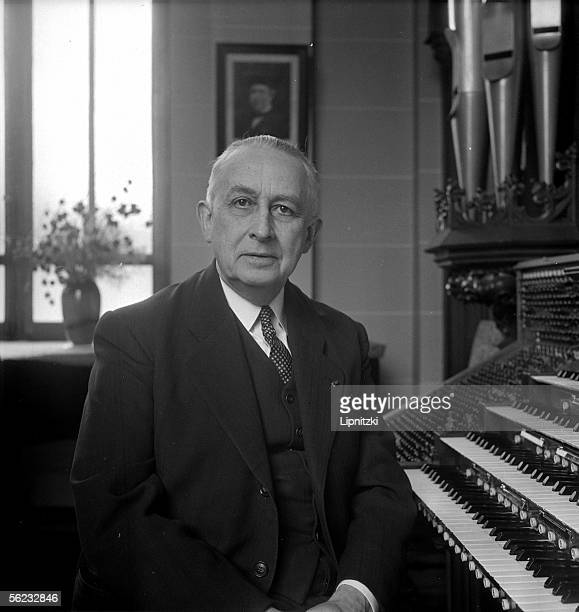 Marcel Dupre French organist composer and teaching specialist Paris march 1952