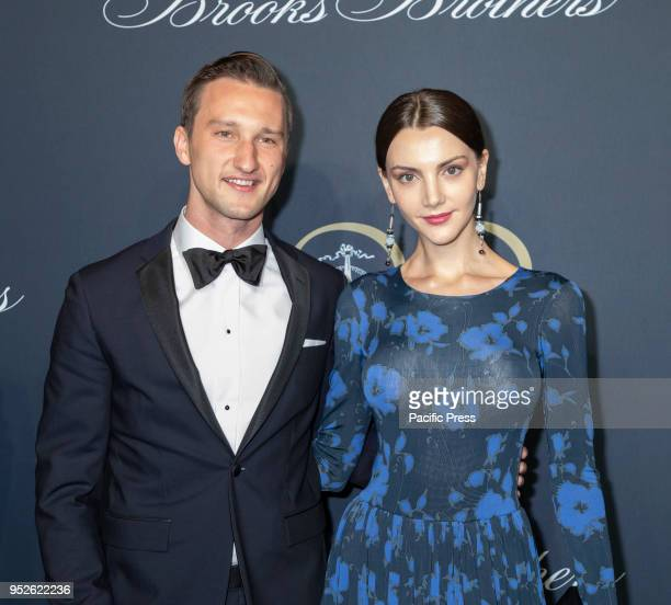 Marcel Floruss and guest attend the Brooks Brothers Bicentennial Celebration at Jazz At Lincoln Center Manhattan