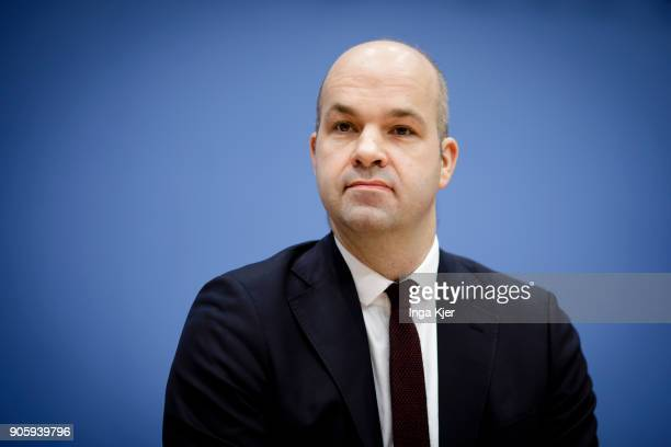 Marcel Fratzscher head of the German Institute for Economic Research at a press conference on January 17 2018 in Berlin Germany