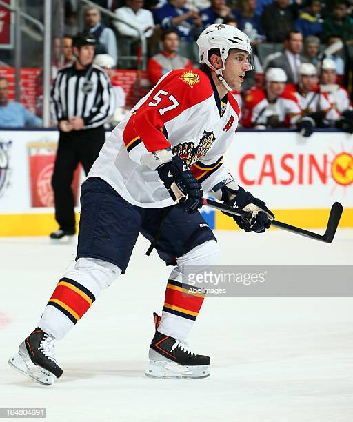 Marcel Goc of the Florida Panthers skates up the ice during NHL action against the Toronto Maple Leafs at the Air Canada Centre March 26 2013 in...