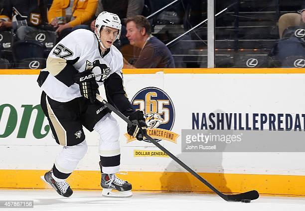 Marcel Goc of the Pittsburgh Penguins skates against the Nashville Predators at Bridgestone Arena on October 25 2014 in Nashville Tennessee