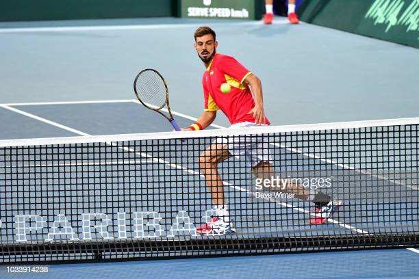 Marcel Granollers of Spain during Day 2 of the Davis Cup semi final on September 15 2018 in Lille France