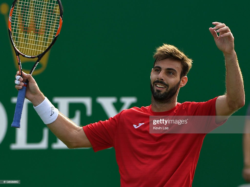 Pablo Cuevas and Marcel Granollers argue with the umpire during ...