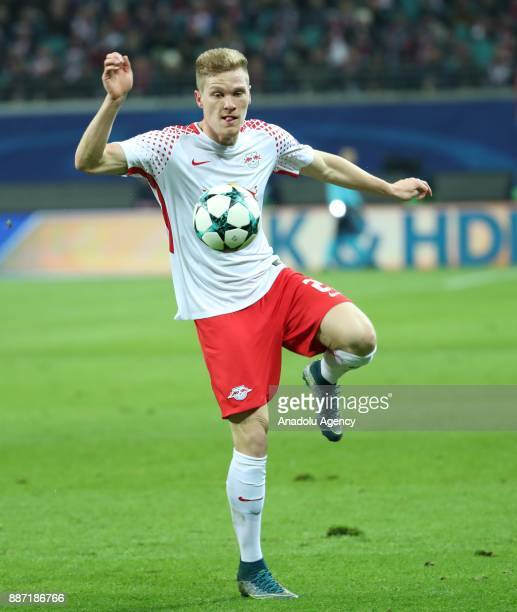 Marcel Halstenberg of Leipzig in action during the UEFA Champions League group G soccer match between RB Leipzig and Besiktas at the Leipzig Arena in...