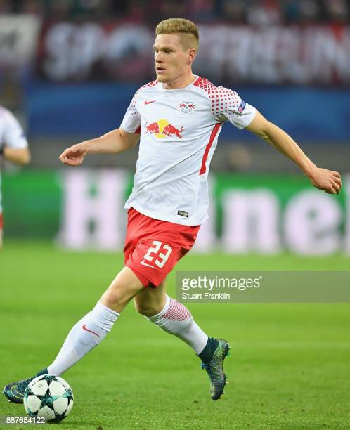 Marcel Halstenberg of Leipzig in action during the UEFA Champions League group G match between RB Leipzig and Besiktas at Red Bull Arena on December...