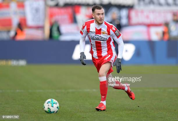 Marcel Hartel of 1 FC Union Berlin during the second Bundesliga match between Eintracht Braunschweig and Union Berlin on February 18 2018 at...