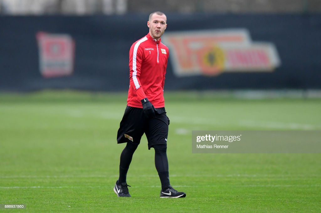 Marcel Hartel of 1 FC Union Berlin during the training session on December 6, 2017 in Berlin, Germany.