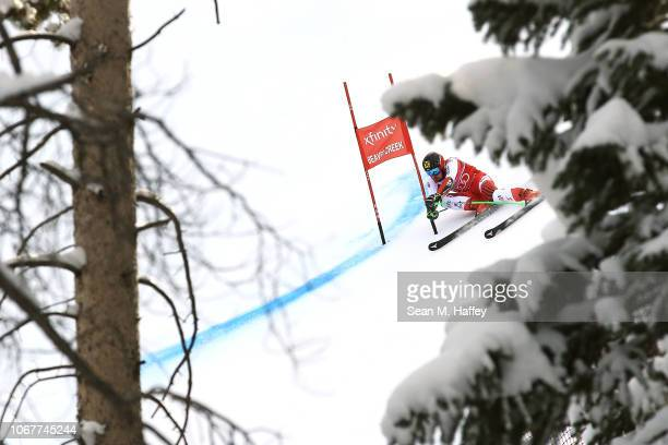 Marcel Hirscher of Austria competes during the Audi FIS Alpine Ski World Cup Men's Giant Slalom on December 2 2018 in Beaver Creek Colorado