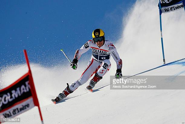 Marcel Hirscher of Austria competes during the Audi FIS Alpine Ski World Cup Men's Giant Slalom on December 11 2010 in Vald'Isere France