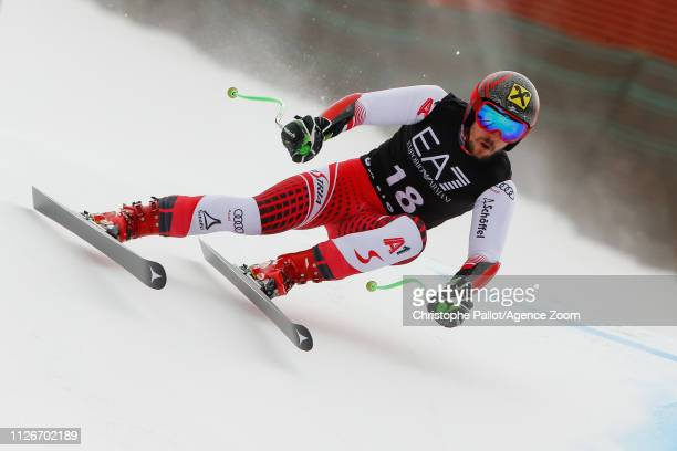 Marcel Hirscher of Austria competes during the Audi FIS Alpine Ski World Cup Men's Alpine Combined on February 22 2019 in Bansko Bulgaria