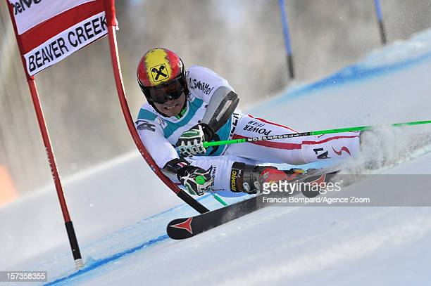 Marcel Hirscher of Austria competes during the Audi FIS Alpine Ski World Cup Men's Giant Slalom on December 2 2012 in Beaver Creek Colorado