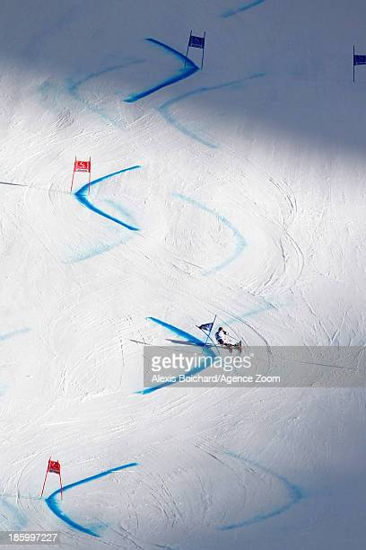 Marcel Hirscher of Austria competes during the Audi FIS Alpine Ski World Cup Men's Giant Slalom on October 27 2013 in Soelden Austria