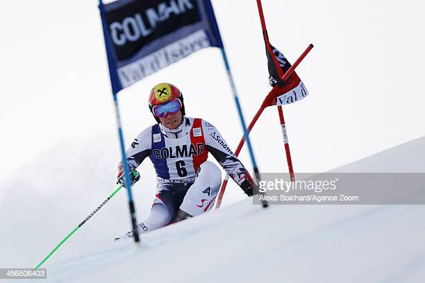 Marcel Hirscher of Austria competes during the Audi FIS Alpine Ski World Cup Men's Giant Slalom on December 14 2013 in Val d'Isere France