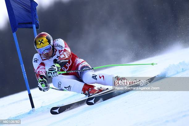 Marcel Hirscher of Austria competes during the Audi FIS Alpine Ski World Cup Men's Giant Slalom on December 07 2014 in Beaver Creek Colorado