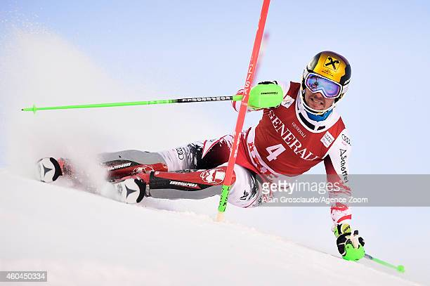 Marcel Hirscher of Austria competes during the Audi FIS Alpine Ski World Cup Men's Slalom on December 14 2014 in Are Sweden