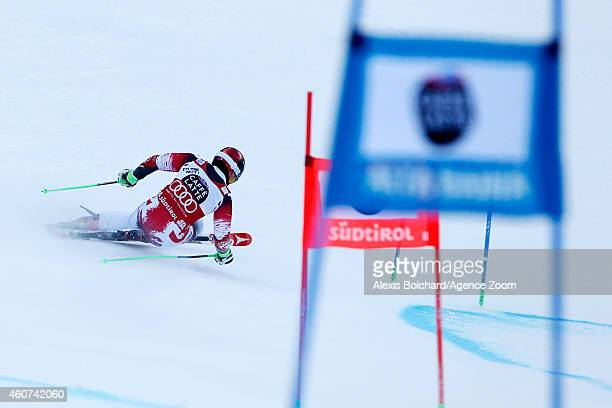 Marcel Hirscher of Austria competes during the Audi FIS Alpine Ski World Cup Men's Giant Slalom on December 21 2014 in Alta Badia Italy