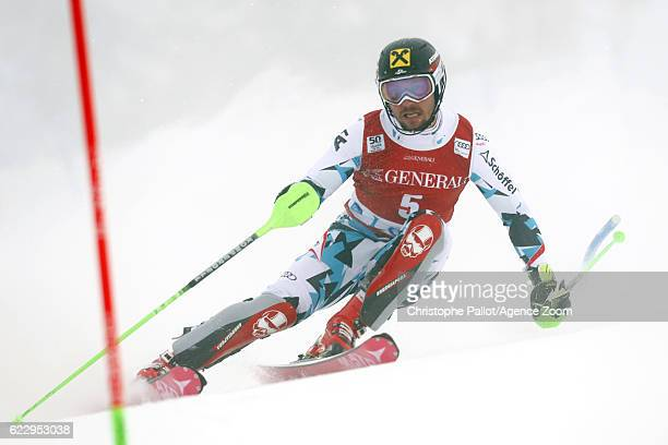 Marcel Hirscher of Austria competes during the Audi FIS Alpine Ski World Cup Men's Slalom on November 13 2016 in Levi Finland