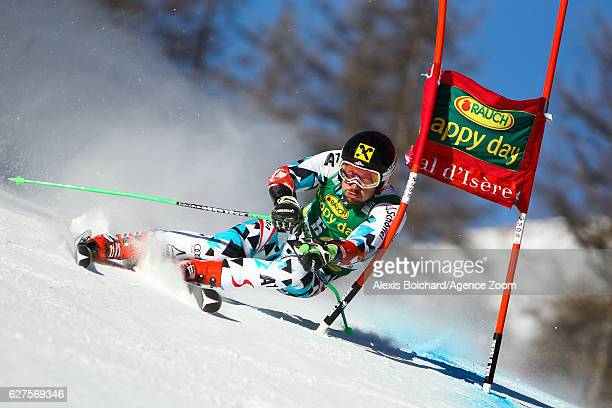 Marcel Hirscher of Austria competes during the Audi FIS Alpine Ski World Cup Men's Giant Slalom on December 4 2016 in Val d'Isere France