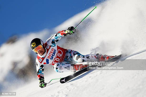 Marcel Hirscher of Austria competes during the Audi FIS Alpine Ski World Cup Men's Giant Slalom on December 10 2016 in Vald'Isere France