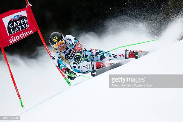 Marcel Hirscher of Austria competes during the Audi FIS Alpine Ski World Cup Men's Giant Slalom on December 18 2016 in Alta Badia Italy