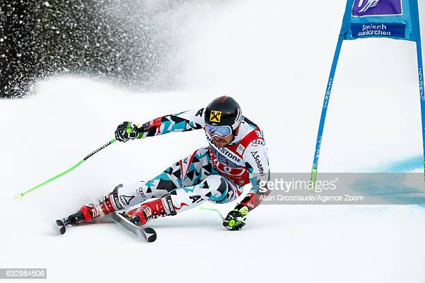 Marcel Hirscher of Austria competes during the Audi FIS Alpine Ski World Cup Men's Giant Slalom on January 29 2017 in GarmischPartenkirchen Germany