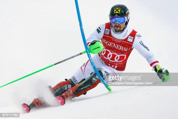 Marcel Hirscher of Austria competes during the Audi FIS Alpine Ski World Cup Men's Slalom on November 12 2017 in Levi Finland