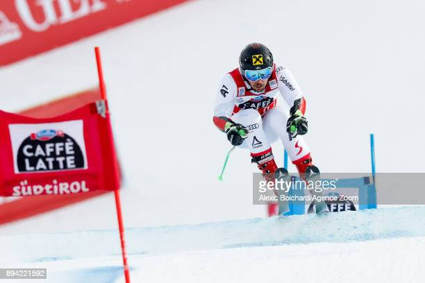 Marcel Hirscher of Austria competes during the Audi FIS Alpine Ski World Cup Men's Giant Slalom on December 17 2017 in Alta Badia Italy