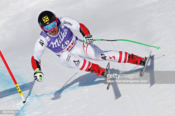 Marcel Hirscher of Austria competes during the Audi FIS Alpine Ski World Cup Finals Men's and Women's Super G on March 15 2018 in Are Sweden