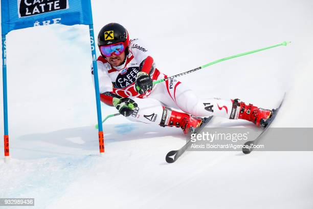 Marcel Hirscher of Austria competes during the Audi FIS Alpine Ski World Cup Finals Men's Giant Slalom on March 17 2018 in Are Sweden