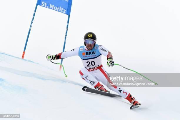 Marcel Hirscher of Austria competes during the FIS Alpine Ski World Championships Men's SuperG on February 08 2017 in St Moritz Switzerland