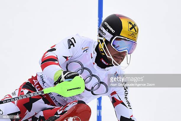 Marcel Hirscher of Austria competes during the FIS Alpine World Ski Championships Men's Slalom on February 15 2015 in Vail/Beaver Creek USA