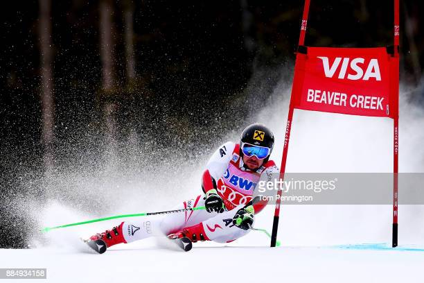 Marcel Hirscher of Austria competes in the Audi Birds of Prey World Cup Men's Giant Slalom on December 3 2017 in Beaver Creek Colorado