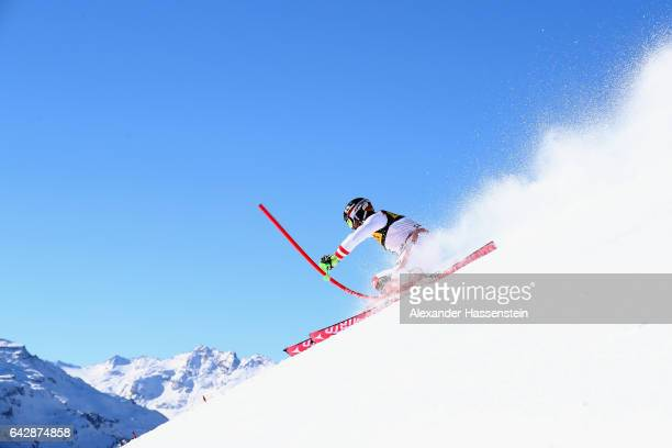 Marcel Hirscher of Austria competes in the first run of the Men's Slalom during the FIS Alpine World Ski Championships on February 19 2017 in St...