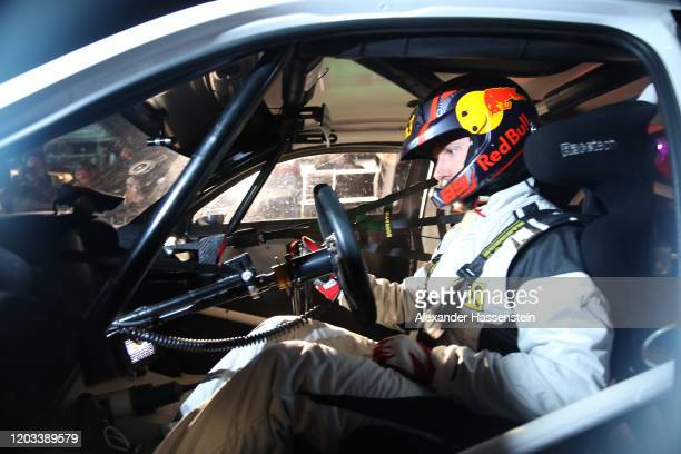 Marcel Hirscher of Austria drives a Audi car on ice during the GP Ice Race on February 01, 2020 in Zell am See, Austria. More than 10000 motorsport...