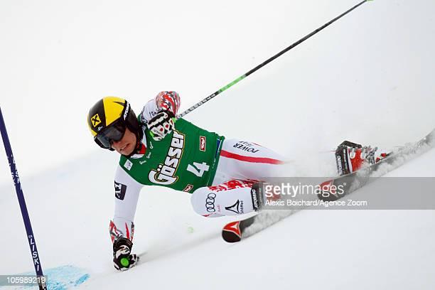 Marcel Hirscher of Austria during the Audi FIS Alpine Ski World Cup Men's Giant Slalom on October 24 2010 in Soelden Austria