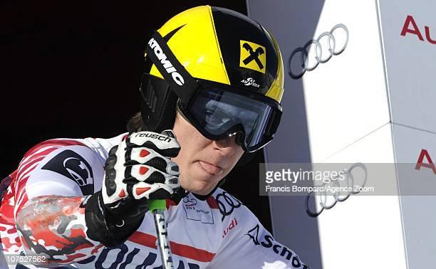 Marcel Hirscher of Austria during the Audi FIS Alpine Ski World Cup Men's Giant Slalom on December 11 2010 in Val d'Isere France