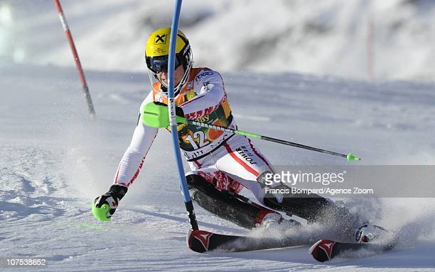 Marcel Hirscher of Austria during the Audi FIS Alpine Ski World Cup Men's Slalom December 12 2010 in Val d'Isere France