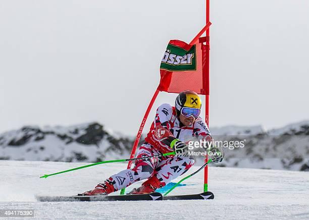 Marcel Hirscher of Austria during the Audi FIS Ski World Cup men's giant slalom race on the Rettenbach Glacier on October 25 2015 in Solelden Austria